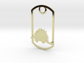 Stegosaurus dog tag in 18K Gold Plated