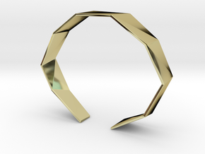 Faceted Bracelet Size M in 18K Gold Plated