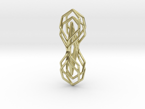 """A Line"" HONEYTWIN, pendant in 18K Gold Plated"
