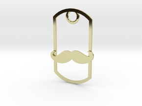 Movember dog tag in 18K Gold Plated
