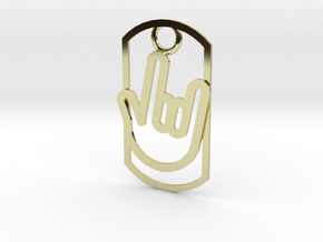 Rock out dog tag in 18K Gold Plated