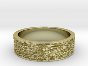 Displaced Time Ring Size 7 in 18K Gold Plated
