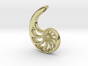 Nautilus Spiral: 4cm in 18K Gold Plated