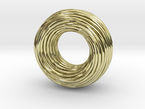 Twisted Ring Pendant - Part 1 in 18K Gold Plated