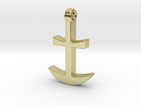 Anchor Pendant in 18K Gold Plated