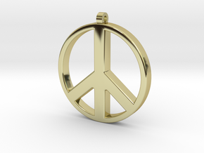 Peace Pendant in 18K Gold Plated