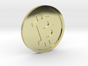 Bitcoin without a face in 18K Gold Plated