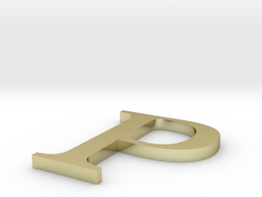 Letter-P in 18K Gold Plated