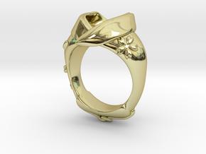 KIMONO RING Frame in 18K Gold Plated