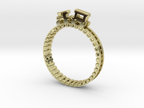 Train Nr2 Ring in 18K Gold Plated