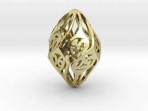Twisty Spindle d10 Decader in 18K Gold Plated