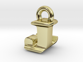 3D Monogram Pendant - JLF1 in 18K Gold Plated