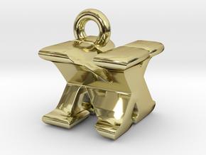 3D Monogram Pendant - NXF1 in 18K Gold Plated