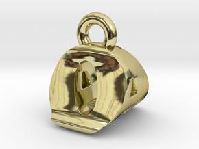 3D Monogram Pendant - OAF1 in 18K Gold Plated