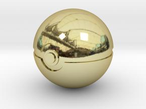 Pokeball 4cm in diameter. in 18K Gold Plated