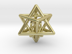 Merkaba Meditation Pendant in 18K Gold Plated