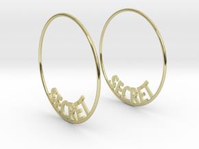 Custom Hoop Earrings - Secret 50mm in 18K Gold Plated