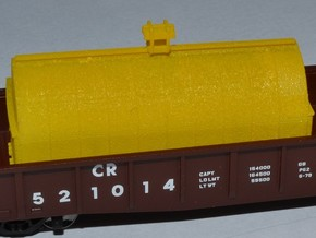 N Scale 4pk 20ft Coil Hoods for gondolas in Smooth Fine Detail Plastic