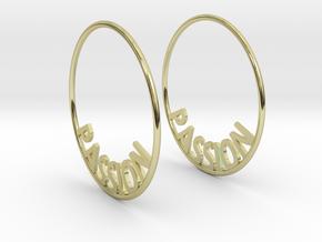 Custom Hoop Earrings - Passion 40mm in 18K Gold Plated