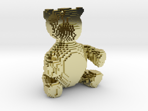 Voxel Bear in 18K Gold Plated