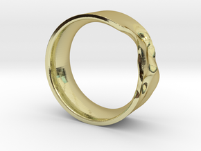 The Crumple Ring - 17mm Dia in 18K Gold Plated