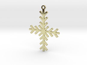 Winter Cross in 18K Gold Plated