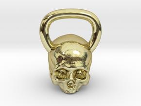 Kettlebell Skull in 18K Gold Plated