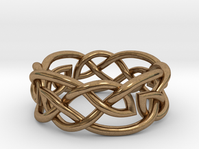 Leaf Celtic Knot Ring in Raw Brass: 5 / 49