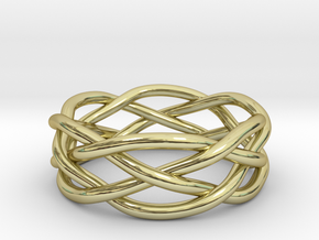 Dreamweaver Ring (Size 10.5) in 18K Gold Plated