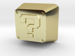 Question Block Cherry MX Keycap in 18K Gold Plated