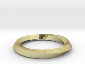 Mobius Wedding Ring-Size 5, multiple sizes listed in 18K Gold Plated