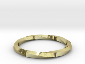 Nurbs Wedding Ring-Size 4.5 in 18K Gold Plated