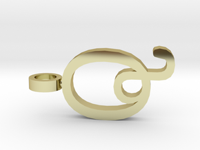 Q Letter Pendant in 18K Gold Plated