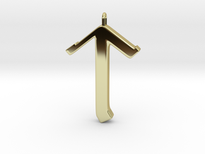 Rune Pendant - Tīr in 18K Gold Plated
