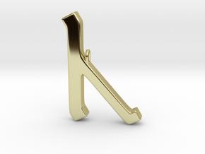 Rune Pendant - Cēn in 18K Gold Plated