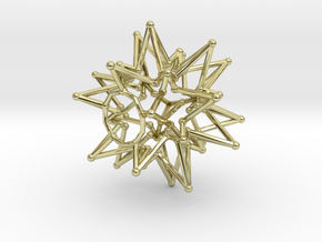 Tessa Star Core - Open Bottom - 5cm in 18K Gold Plated