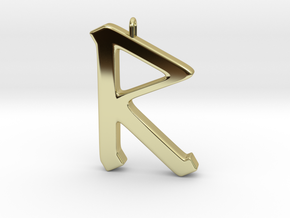 Rune Pendant - Rād in 18K Gold Plated