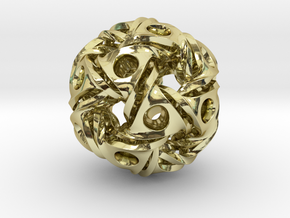 Aztec Ball Pendant 28mm in 18K Gold Plated