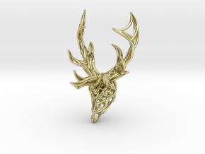 Deer Head Pendant in 18K Gold Plated
