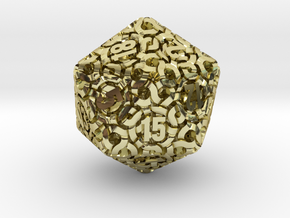 Ring d20 in 18K Gold Plated