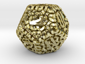 Ring d12 in 18K Gold Plated
