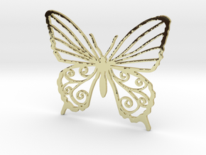 Butterfly wall stencil 7cm in 18K Gold Plated