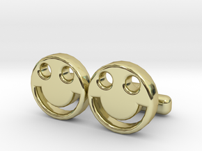 """Happy Face Cufflinks, Part of """"Fun Loving"""" Collect in 18K Gold Plated"""