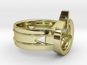 Power Ring Size 13 in 18K Gold Plated