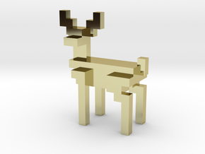 8bit reindeer with sharp corners in 18K Gold Plated