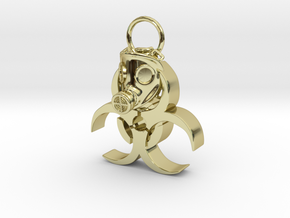 Gasmask in 18K Gold Plated