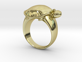 Turtle Ring (Size 7.5) in 18K Gold Plated