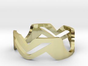Ring MV in 18K Gold Plated