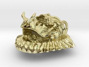 Evil Skull biker pendant in 18K Gold Plated