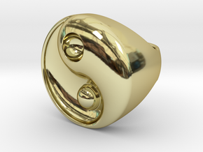 Yin Yang - 6.1 - Chevalière - 16 Mm in 18K Gold Plated